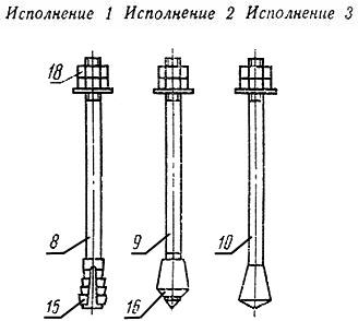 Болты фундаментные с коническим концом